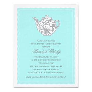 Wedding Bridal Shower Invitation | High Tea Theme 4.25