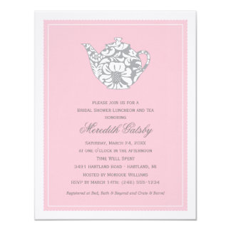 Wedding Bridal Shower Invitation | High Tea Theme Personalized Invitation