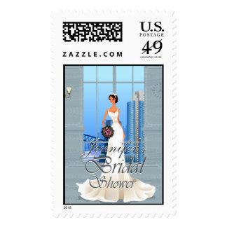 Wedding Bridal Shower invitation Postage #10