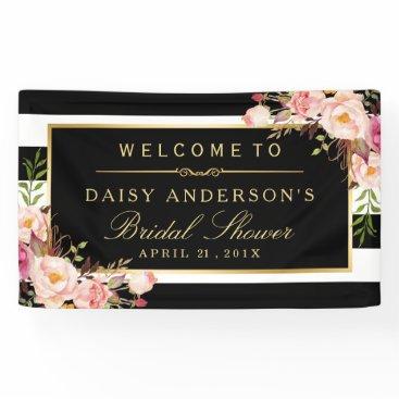 CardHunter Wedding Bridal Shower Modern Vintage Floral Decor Banner