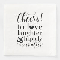 Wedding & Bridal Shower Napkins - Cheers to Love