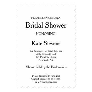 Wedding Bridal Shower Plain Invitation Card