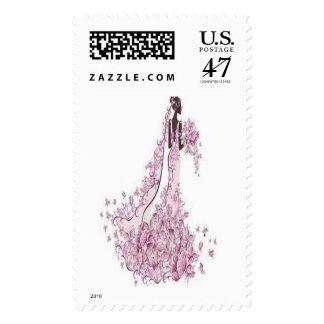 wedding bridal shower postage stamps custom stamp