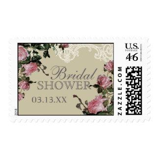 Wedding Bridal Shower Stamps Trellis Rose Vintage