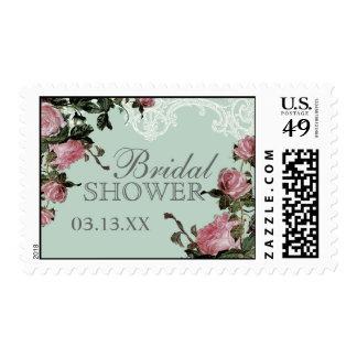 Wedding Bridal Shower Stamps, Trellis Rose Vintage Stamp