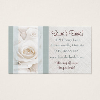 Bridal store business cards templates zazzle wedding bridal stores photographer business card reheart Images