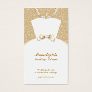 Wedding Bridal White Dress Business Card