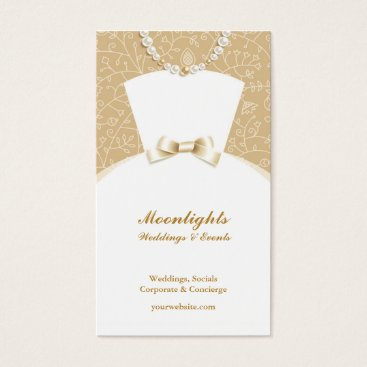 Professional Business Wedding Bridal White Dress Business Card