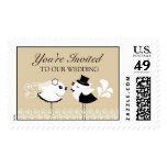 Wedding Bride and Groom Large Postages Stamps