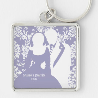 Wedding Bride and Groom you choose Color Key Chain