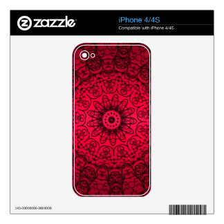 Wedding Bride Elegant Girly Black Red French Lace Skin For The iPhone 4