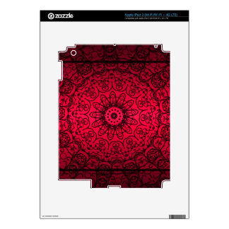 Wedding Bride Elegant Girly Black Red French Lace Skins For iPad 3