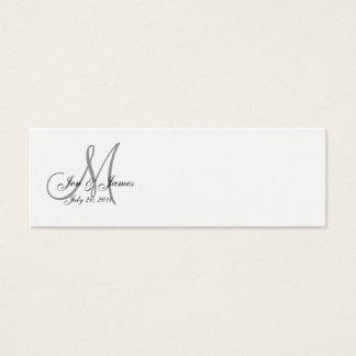 Wedding Bride Groom Date Monogram Profile Card