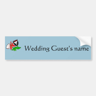Wedding Bride Groom Logo Paraphernalia Bumper Sticker