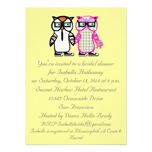 Groom owl bridal shower invitation 5 5 quot x 7 5 quot invitation card