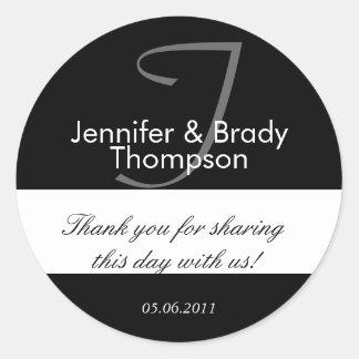 Wedding Bride & Groom Thank You Favor Sticker