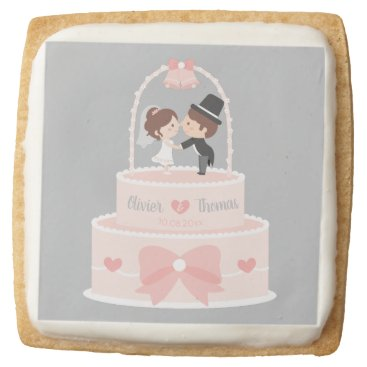 Bride Themed Wedding Bride Groom Toppers Personalized Cookies
