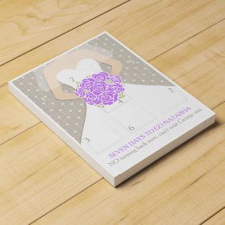 Wedding bride purple posy countdown calendar