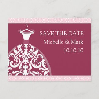 Wedding Bride save the date Happy Red card Post Cards