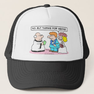 "Wedding bride says ""No."" Trucker Hat"