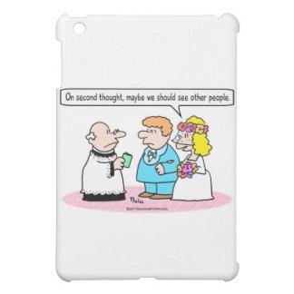 wedding bride see other people iPad mini cover