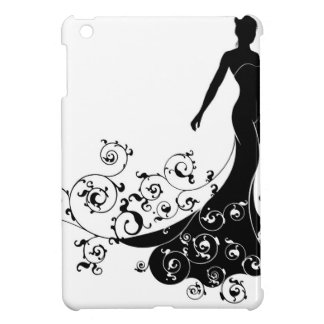 Wedding Bride Silhouette Design iPad Mini Covers