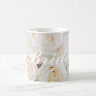 Wedding Bride To Be Mug With White Roses