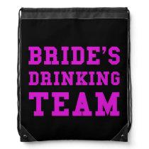 Wedding Brides Drinking Team Drawstring Backpack