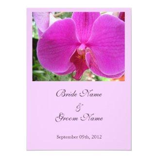 wedding, bride's parent's invitation pink orchid custom announcements