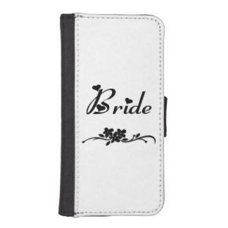 Wedding Brides Wallet Phone Case For iPhone SE/5/5s
