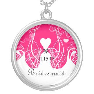 Wedding Bridesmaid Keepsake Thank You Necklace