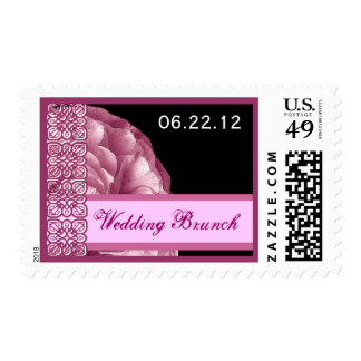 WEDDING BRUNCH Custom Date - Shades of Pink Stamp