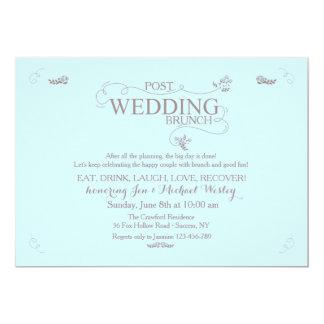 Wedding Brunch in Blue Invitation