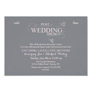 Wedding Brunch in Gray Invitation