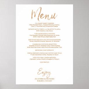 Phenomenal Wedding Buffet Menu Stylish Gold Rose Lettered Poster Home Interior And Landscaping Ponolsignezvosmurscom