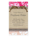 Wedding Business Card Beach Dolphin Hibiscus Pink