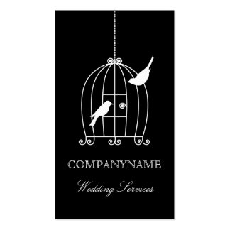 Wedding business card template Bird Cage