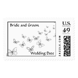 Wedding Butterfly Postage Stamp