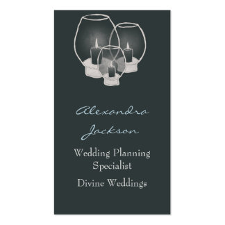 Wedding By Candlelight, Business Card Template