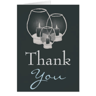 Wedding By Candlelight, thank you Greeting Card