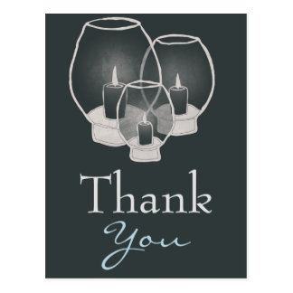 Wedding By Candlelight,  thank you Postcard