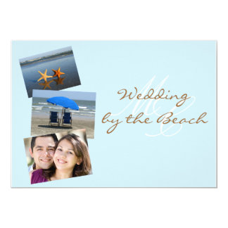 Wedding by the Beach Custom Photo Invitation