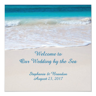 Wedding by the Sea Beach Ceremony Program Template Card