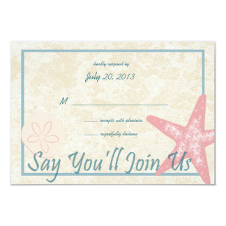 Wedding By the Sea Response Card
