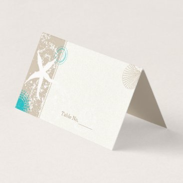 Beach Themed Wedding By The Shore Place Card