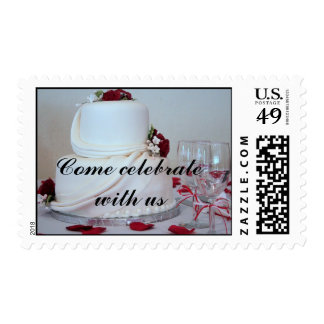 Wedding Cake 2, Come celebrate with us Postage