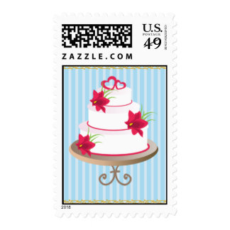 wedding cake 3 postage