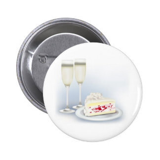 Wedding-Cake and Champagne Button