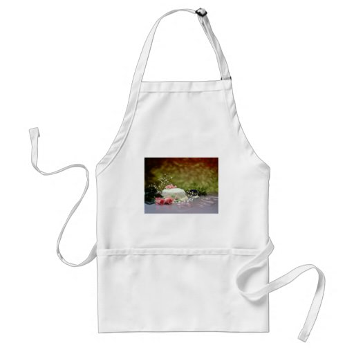 Wedding cake and flowers  flowers apron