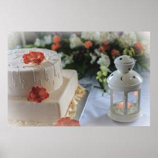 Wedding Cake and Lantern Poster